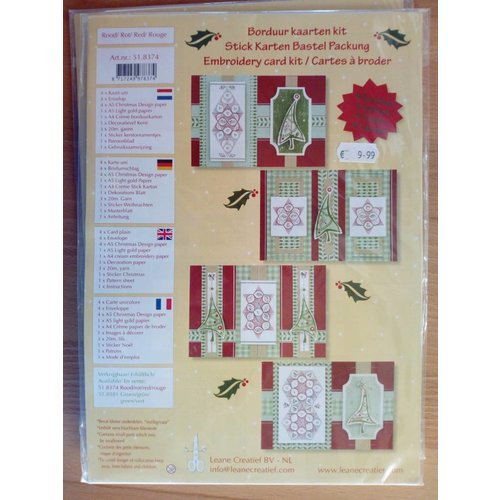 BASTELSETS / CRAFT KITS Card Embroidery Kit, Christmas
