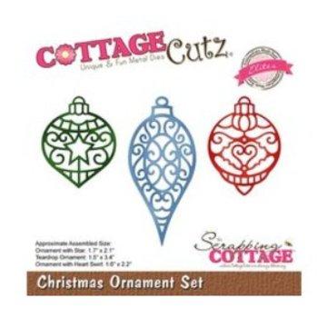Cottage Cutz Snijmallen, Kerstmis, Ornament Set