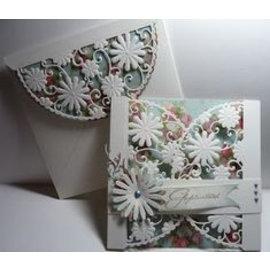 Marianne Design Stanzschablonen, Anja's flower demi circle, für eine gängige Stanzmaschine