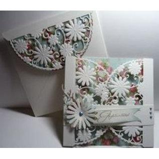 Marianne Design Snijsjablonen, Anja's flower demi circle