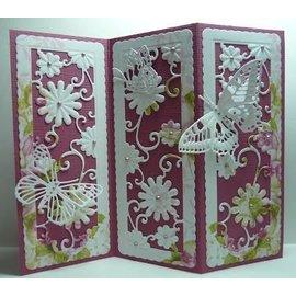 Marianne Design Stanzschablonen, Anja's flower rectangle