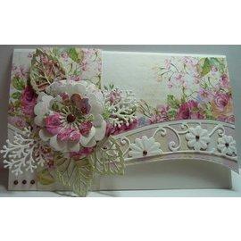 Marianne Design Les pochoirs, la vague de fleurs d'Anja