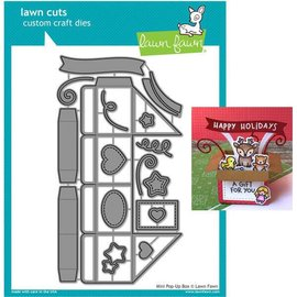 Elisabeth Craft Dies , By Lene, Lawn Fawn Plantillas, Mini Caja Pop-Up de Fawn Lawn