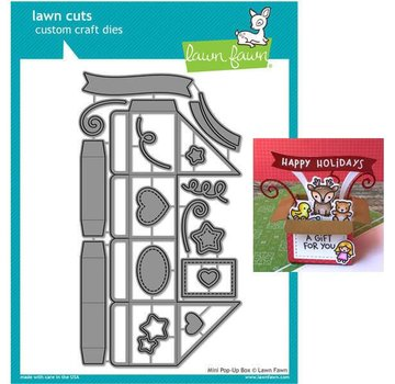Elisabeth Craft Dies , By Lene, Lawn Fawn Stencils, Lawn Fawn Mini Pop-Up Box