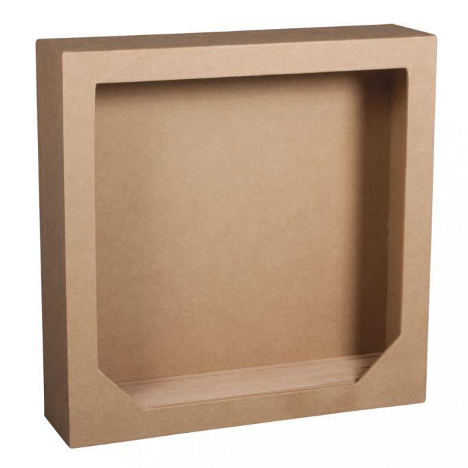 Holz Mdf Pappe Objekten Zum Dekorieren Decorazione Fai Da Te Cornice In Carta 3d Con Piano In Legno 21 7x21 7x5 5cm