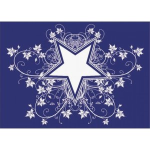Pronty Template: Star and Co. A4, 1 stencil + squeegee