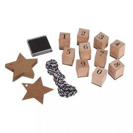Spellbinders und Rayher Stempel Set Zahlen 0-9