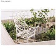 Embellishments / Verzierungen Deco mini-schommelstoel, 2,5x4,5x4,5cm, wit