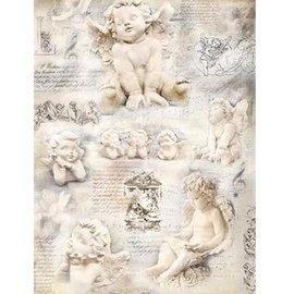 DECOUPAGE AND ACCESSOIRES Papier à soie Anges, 47 x 35cm