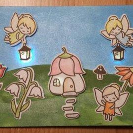 Elisabeth Craft Dies , By Lene, Lawn Fawn Karten gestalten mit Beleuchtung: Stempel motive + Stanzschablonen + Mini Beleuchtung, Engel