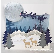 Marianne Design Cutting Dies, Horizon snowy mountains