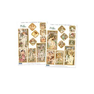 Bilder, 3D Bilder und ausgestanzte Teile usw... Art Nouveau, 2 feuilles estampées - Limité!