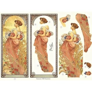 Bilder, 3D Bilder und ausgestanzte Teile usw... Art Nouveau, 2 fogli stampati - Limitato!