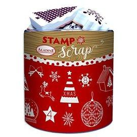 ALADINE 26 sellos de espuma + almohadilla de tinta, temas navideños