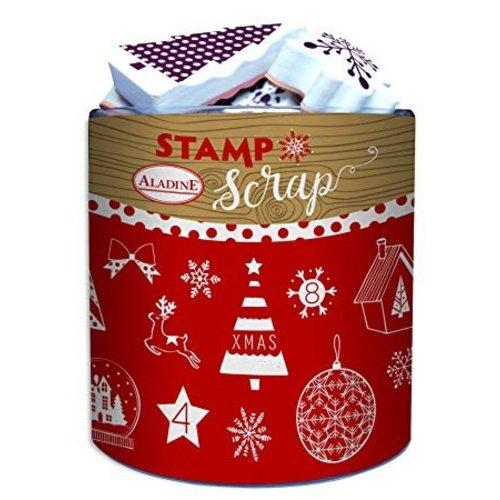 ALADINE 26 tampons en mousse + tampon encreur, thèmes de Noël