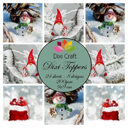 Bilder, 3D Bilder und ausgestanzte Teile usw... 24 Toppers, 200 gsm, 9 x 9 cm: Gnome