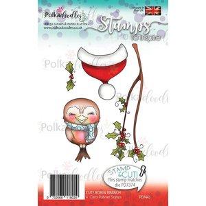 Polkadoodles  Transparent stamp: Robin