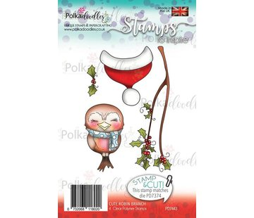 Polkadoodles  Transparent Stempel: Robin