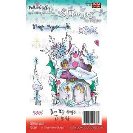 Polkadoodles  Transparante stempel: Snowtime Magic