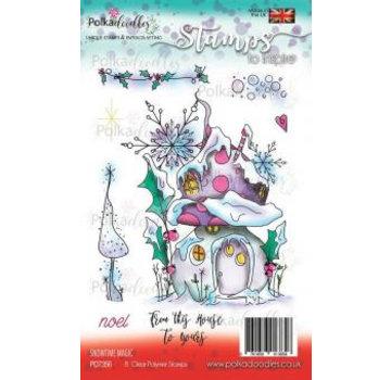 Polkadoodles  Timbro trasparente: magia del tempo di neve