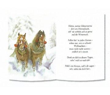 REDDY 1 Blatt, mit Gedicht auf Transparentpapier, A5 Format