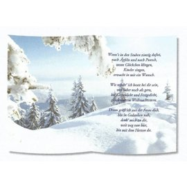 Karten und Scrapbooking Papier, Papier blöcke 1 ark, med digt på sporpapir, A5 format