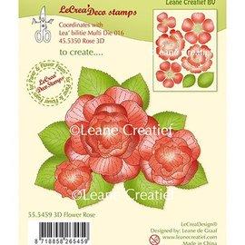Leane Creatief - Lea'bilities und By Lene Gennemsigtigt frimærke: 3D Flower Rose