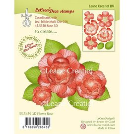 Leane Creatief - Lea'bilities und By Lene Estampilla transparente: flor rosa 3d