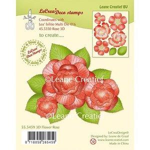 Leane Creatief - Lea'bilities und By Lene Cachet transparent: fleur 3D en rose