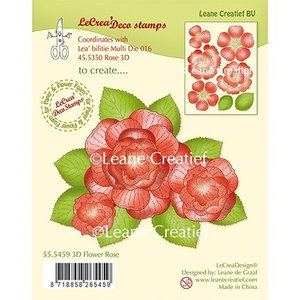 Leane Creatief - Lea'bilities und By Lene Transparante stempel: 3D Flower Rose