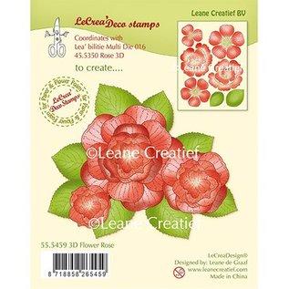 Leane Creatief - Lea'bilities und By Lene Transparent stamp: 3D Flower Rose