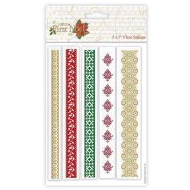 Docrafts / Papermania / Urban Gennemsigtigt frimærke, julgran