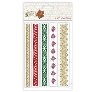 Docrafts / Papermania / Urban Transparent stamp, Christmas borders