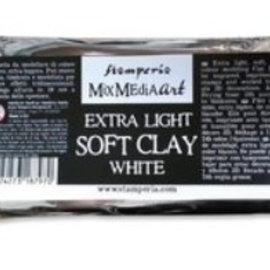 Stamperia Argilla da modellare, tecnica mista Art Extra Light Soft argilla 160gr bianca. Extra Light