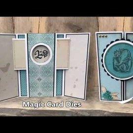 Nellie Snellen Plantillas de punzonado, Magic Card, redondo.