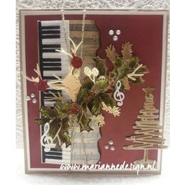 Marianne Design Cutting en embossing Sjablonen: Piano