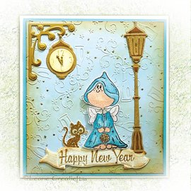 Leane Creatief - Lea'bilities und By Lene Cutting and embossing stencils Lea'bilitie, lantern and clock