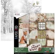 Designer Papier Scrapbooking: 30,5 x 30,5 cm Papier New! Designer paper, printed on both sides, The Sound of Winter