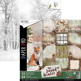 Designer Papier Scrapbooking: 30,5 x 30,5 cm Papier New! Designer paper, printed on both sides, The Sound of Winter