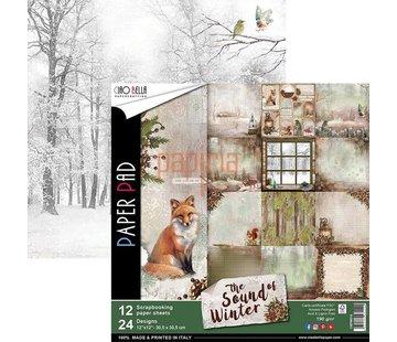 Designer Papier Scrapbooking: 30,5 x 30,5 cm Papier Neu! Designer Papier, doppelseitig bedruckt,The Sound of Winter, LETZTES EXEMPLAR