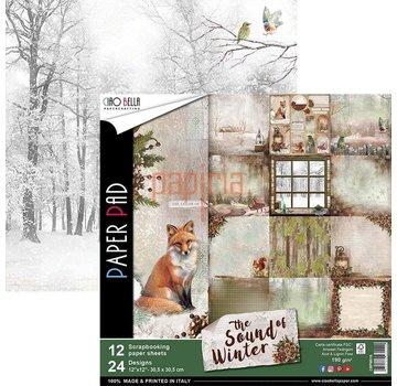 Designer Papier Scrapbooking: 30,5 x 30,5 cm Papier Nieuw! Ontwerperpapier, aan beide zijden bedrukt, The Sound of Winter
