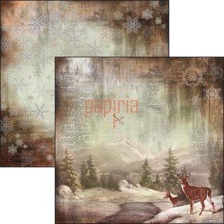 Designer Papier Scrapbooking: 30,5 x 30,5 cm Papier Nyt! Designerpapir, trykt på begge sider, The Sound of Winter