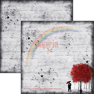Designer Papier Scrapbooking: 30,5 x 30,5 cm Papier Libro de recortes y papel de cartas, Lovin in the Rain (video del producto en el blog creativo en la parte superior derecha)