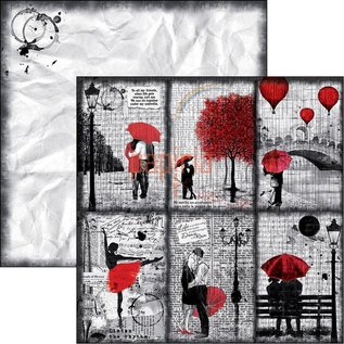Designer Papier Scrapbooking: 30,5 x 30,5 cm Papier Scrapbooking en kaartenpapier, Lovin in the Rain (productvideo in de creatieve blog in de rechterbovenhoek)