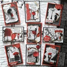 Designer Papier Scrapbooking: 30,5 x 30,5 cm Papier Libro de recortes y tarjetas de papel, Lovin en la lluvia.