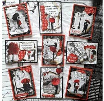 Designer Papier Scrapbooking: 30,5 x 30,5 cm Papier Scrapbooking en kaartenpapier, Lovin in the Rain (productvideo in de creatieve blog in de rechterbovenhoek)