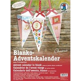 BASTELSETS / CRAFT KITS Lag juledekorasjoner: Komplett håndverkskit til en adventskalender