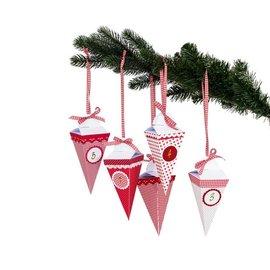BASTELSETS / CRAFT KITS Kerstdecoraties maken: kompleet handwerkpakket voor een adventskalender