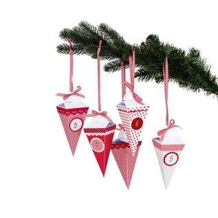 BASTELSETS / CRAFT KITS Weihnachtsdeko basteln, Komplettes Bastelset für einen Adventskalender