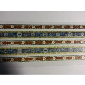 Embellishments / Verzierungen Etiqueta de tela con purpurina y bordes autoadhesivos.